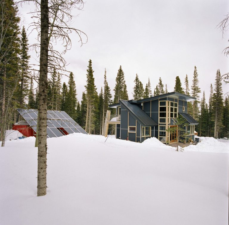 Pearson Cabin Exterior Facades in Winter